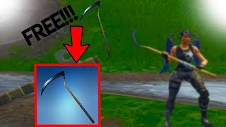 HOW TO GET A FREE SCYTHE AXE *FREE!!! * Fortnite Battle Royale