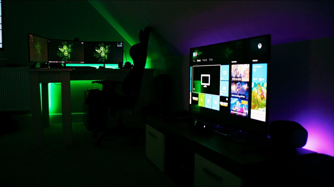 The ultimate gaming and entertainment room 2015 youtube How to make a gaming setup in your room