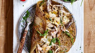 INCREDIBLE CREAMY MUSHROOM CREPES IN JUST 15 MINUTES