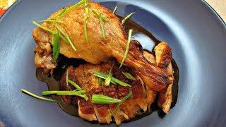 Roast Duck - Seasoned and Stuffed - PoorMansGourmet