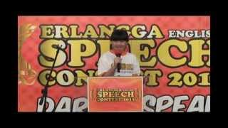 DENDELY WIYAN SUTANMITRANO JUARA 3 Erlangga English Speech Contest 2013 (SMP)