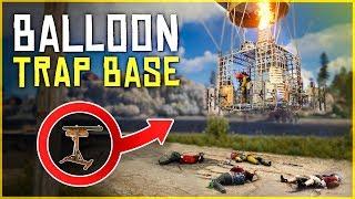 BAITING PLAYERS into a HOT AIR BALLOON TRAP - Rust Trap Base