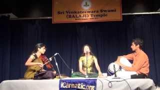 YCMF2014 - Aparajitha Adiraju (Vocal) Harini Rajashekar (Violin) Aditya Iyer (Mridangam)