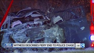 Witness to deadly chase crash: Suspect's car 'exploded'