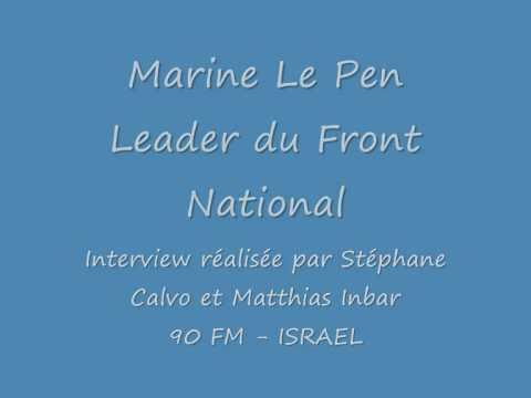 JSSNews.com: Marine Le Pen - Interview sur 90FM - Israel