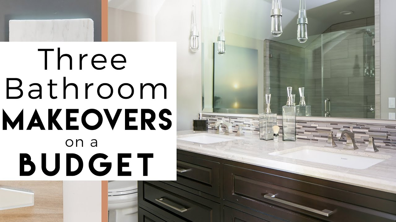 3 Bathroom Makeovers Interior Design Youtube