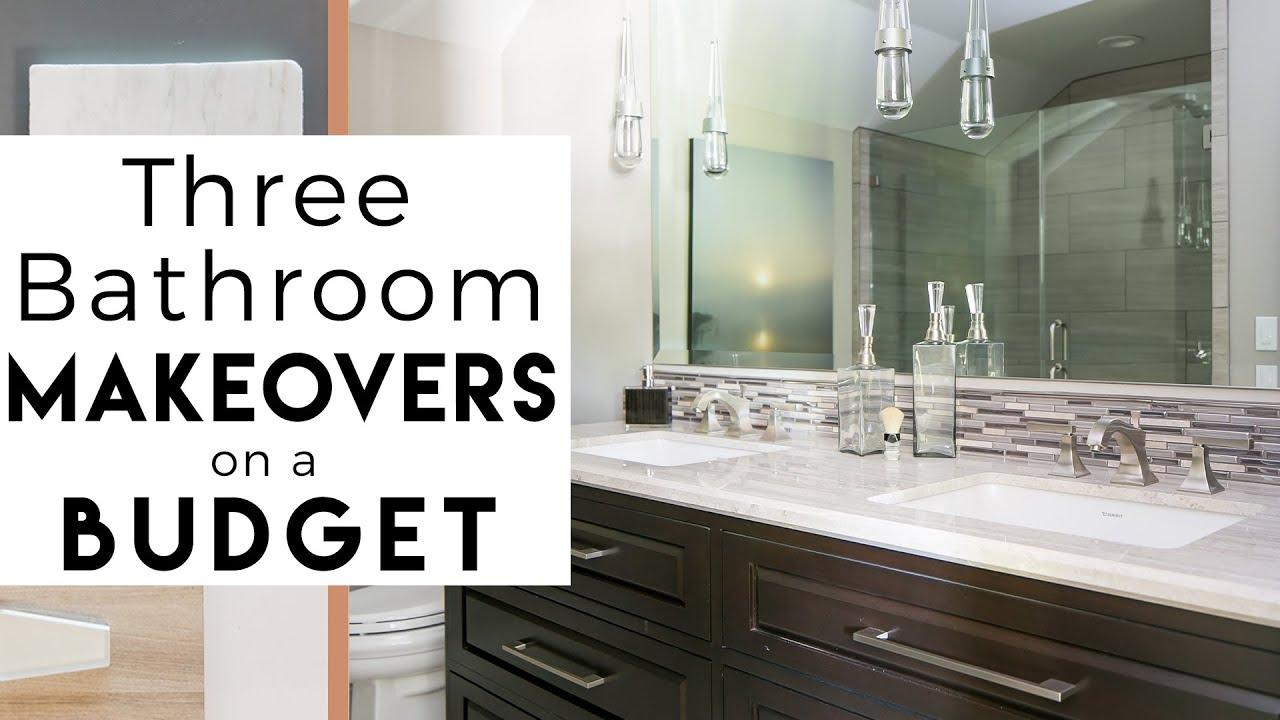 3 Bathroom Makeovers Interior Design Youtube