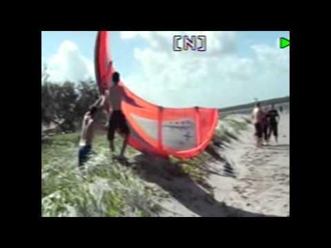 Sam Kemper and Jason Hawkins first Kite lesson 101