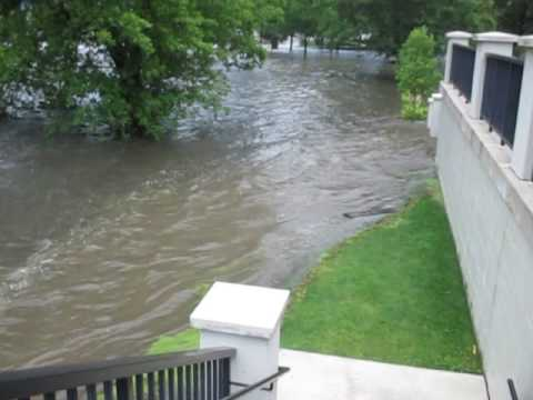 Burlington, WI Echo Park Flood - earlier footage Part 1