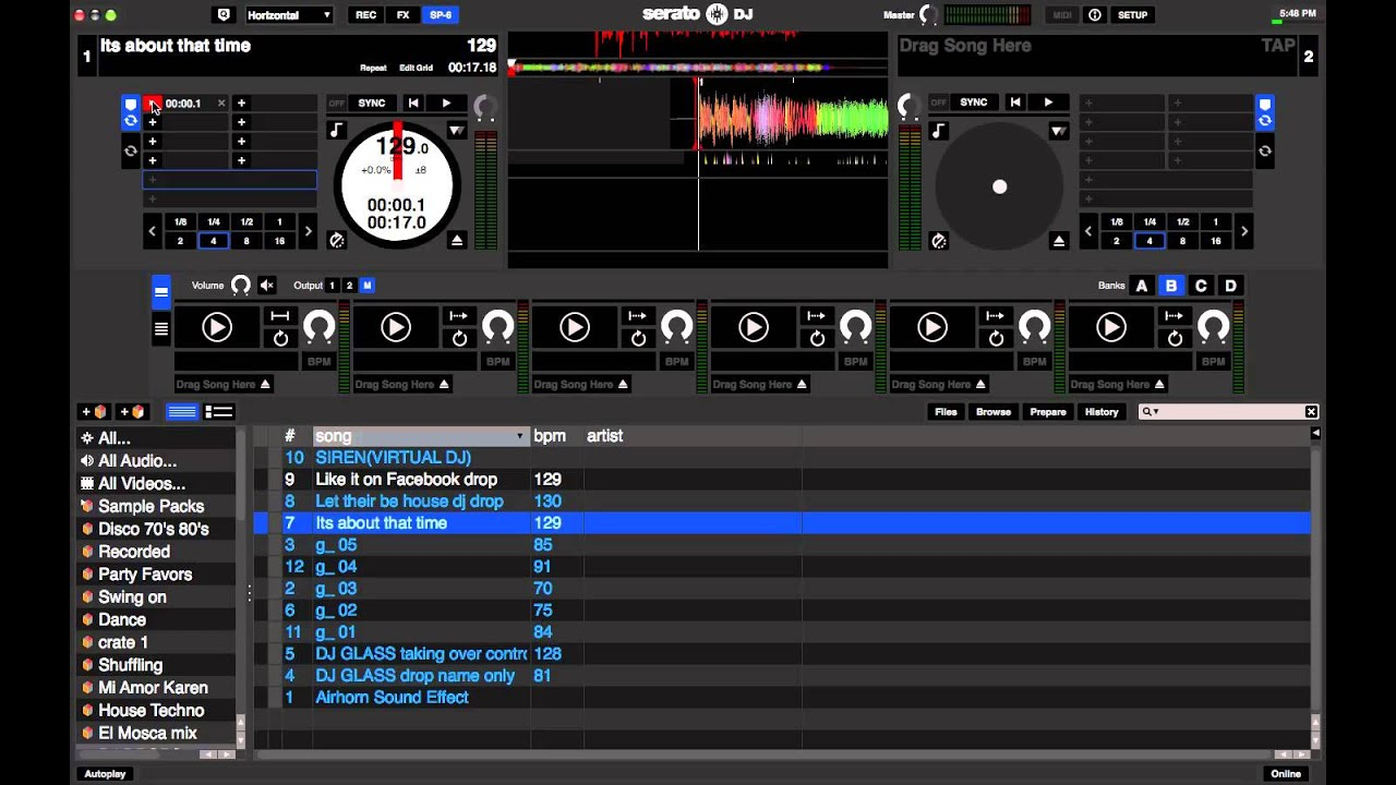 How to use Serato DJ SP6 Sample Player - YouTube