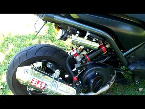 my bws 155 stretched and lowered - YouTube