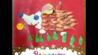 Ежик. Детские рисунки и поделки в нашей творческой студии.