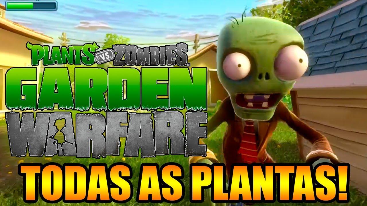 PLANTS VS ZOMBIES GARDEN WARFARE: CONHEÇA TODAS AS PLANTAS E SEUS ...