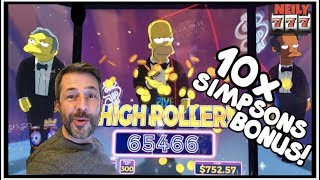 IT HAPPENED! 10x MULTIPLIER ON THE SIMPSONS SLOT LEADS TO A HUGE WIN!