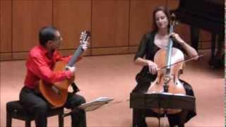 Anja Lechner-Pablo Márquez. Radamés Gnattali Sonata for cello & guitar