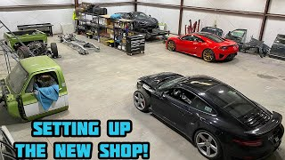 MOVING INTO THE NEW SHOP