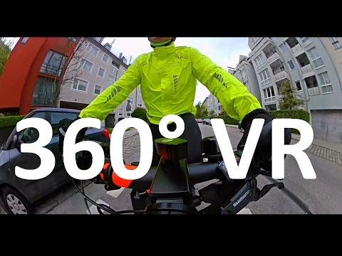 EleCam 360° VR Munich - Mit dem Fahrrad zur Arbeit - München (Sendling-Westpark) - Taufkirchen