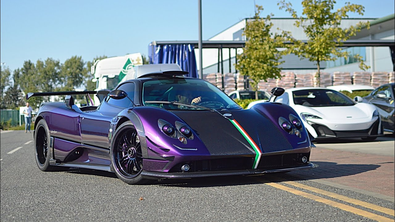 1 of 1 purple pagani zonda 760 rs sounds and mad combos in london