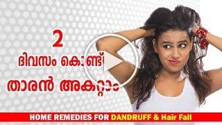 🙆Dandruff Treatment at home in Malayalam-Dandruff Removal Home Remedies-താരന് -Ethnic Health Court