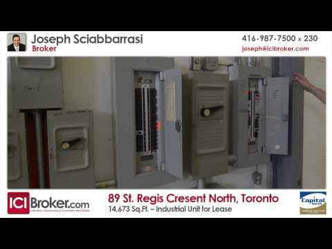 Industrial Unit for Lease: 89 St. Regis Crescent North, Toronto