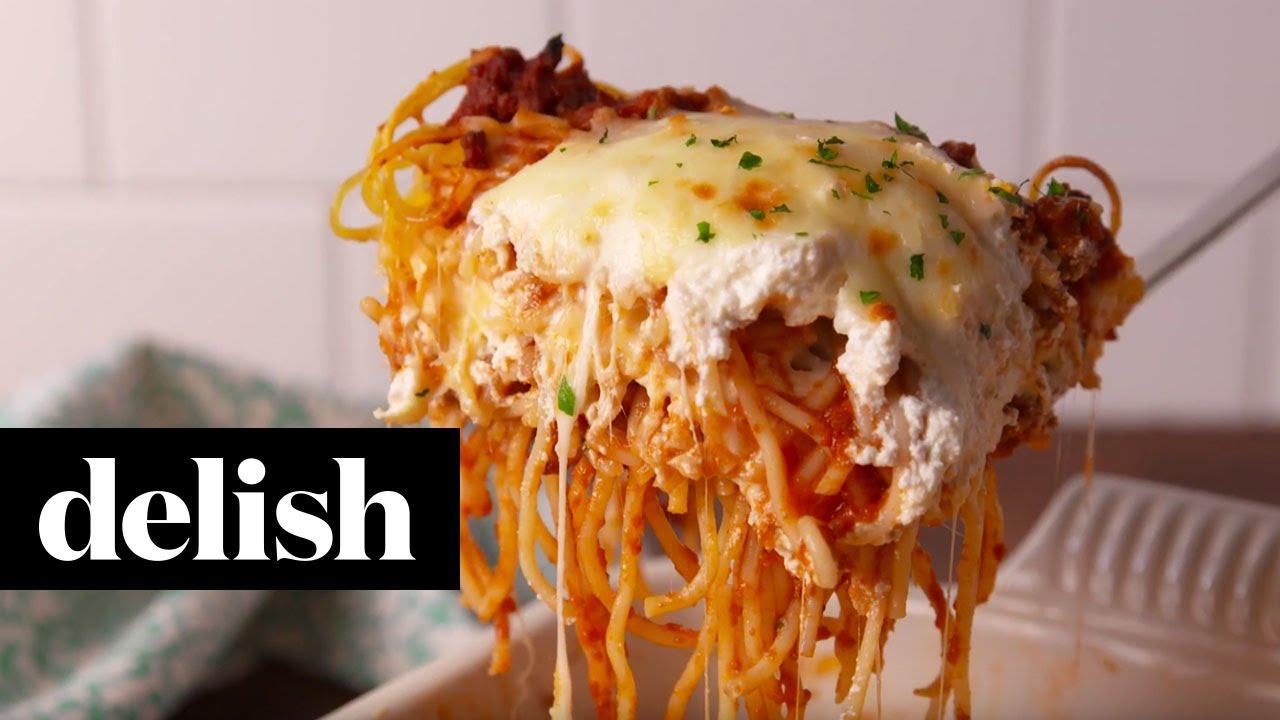 Receta de espagueti tipo lasana