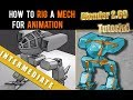 How To Rig A Mech For Animation In Blender 2.69