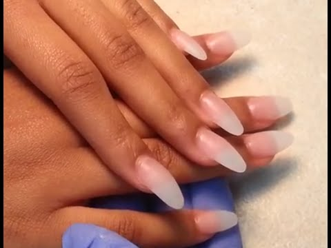 How to Acrylic Almond Finger Nails Shape.
