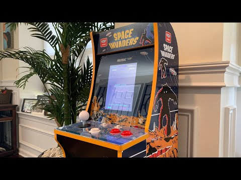 SPACE INVADERS COUNTERCADE Arcade1up FULL REVIEW! from The 3rd Floor Arcade with Jason