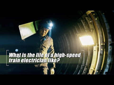 Live: What is the life of a high-speed train electrician like? 探访地下54米的高铁电力工人