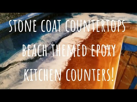 Stone Coat Countertops Beach Themed Epoxy Resin Counters