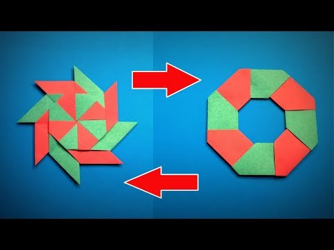Origami Ninja Star | How to Make a Paper Ninja Star Transforming DIY | Easy Origami ART Paper Crafts