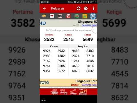 Keluaran Togel Singapura  Minggu Youtube
