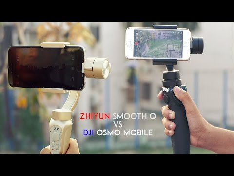 $139 Best SmartPhone Gimbal? | Zhiyun Smooth Q vs DJI Osmo Mobile Comparison Review | RWR