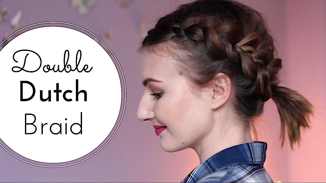 Hollandische Zopfe Fur Kurze Haare Double Dutch Braid Updo Redgyloves