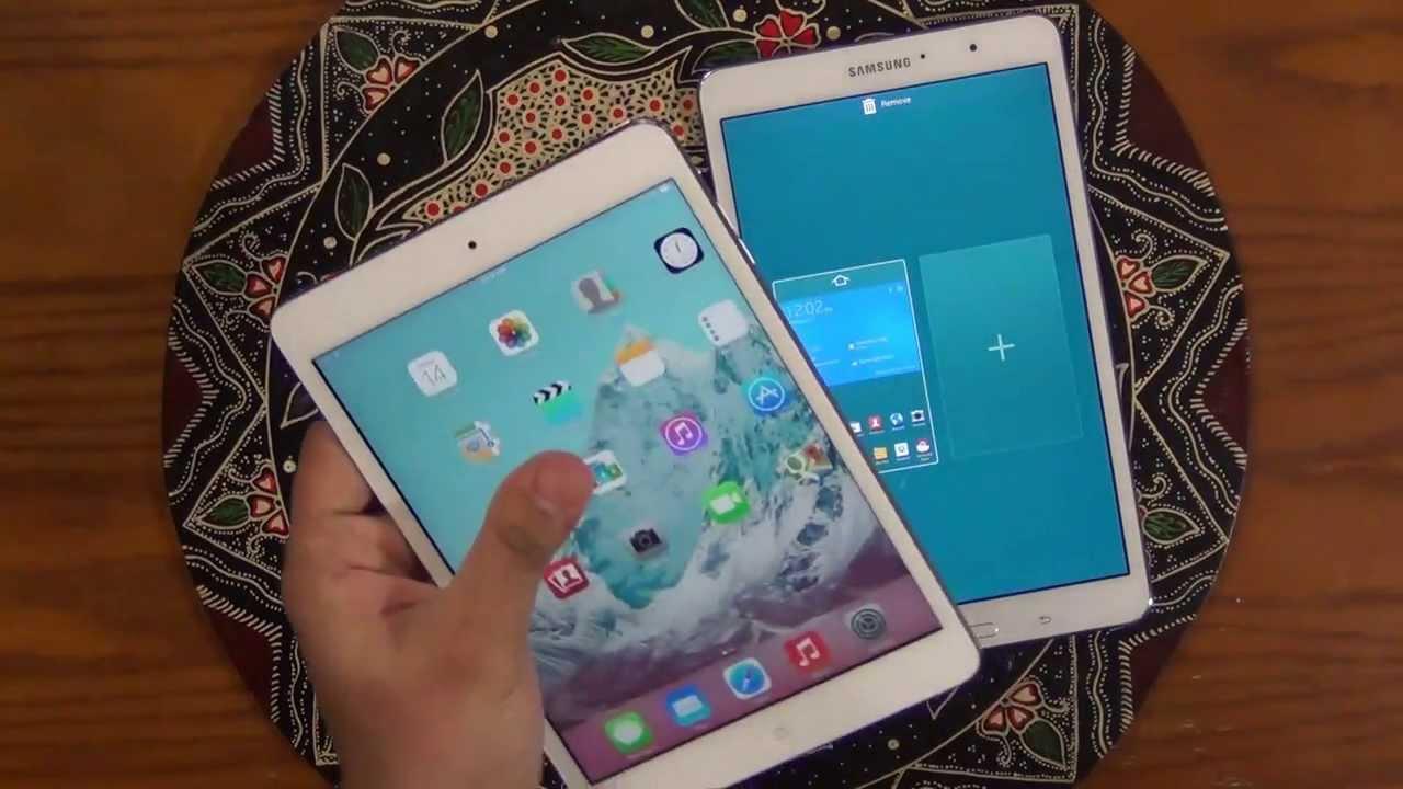Ipad Mini 2 Retina Display Vs Samsung Galaxy Tab Pro 8 4 Full