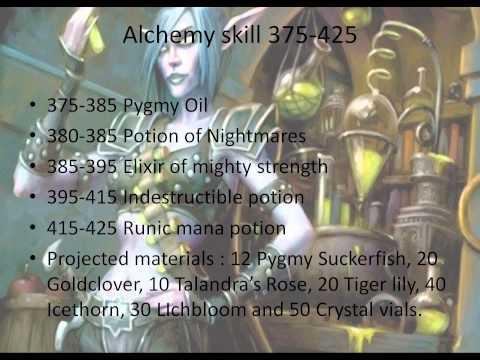 World of Warcraft Alchemy Guide 1- 525