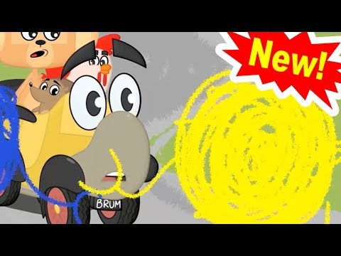 CRAYONS ALIVE | Funny Animated Cartoon | BRUM | Cartoons For Kids | Cartoons For Children