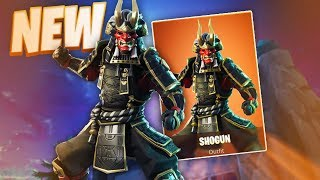 *NEW* SHOGUN SKIN IN FORTNITE! NEW KABUTO GLIDER + JAWBLADE PICKAXE!