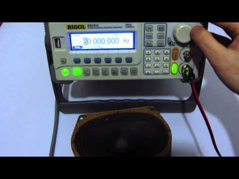 How to generate sound using a Function/Signal Generator
