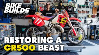 Restoring and Racing a BEAST - 1994 Honda CR500 | Bike Builds with Aaron Colton