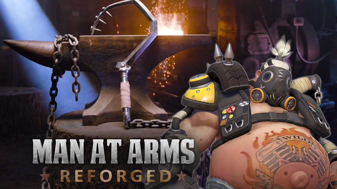Real-life Roadhog chain hook from Man at Arms: Reforged