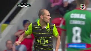 Goal | Golo Bas Dost: Marítimo 1-(1) Sporting (Liga 17/18 #34)
