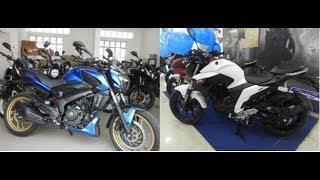 Bajaj Dominar  2018 Vs Yamaha FZ25 2018 WalkAround Review