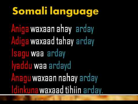 Somali Language  lesson01
