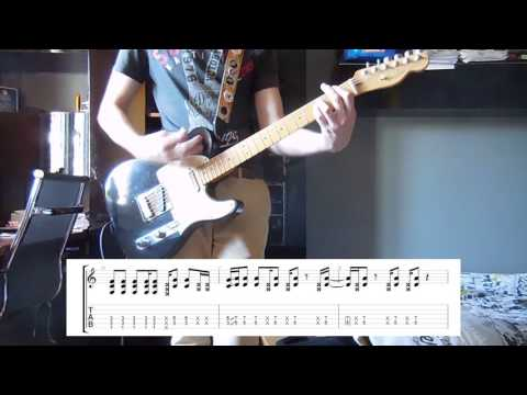 Red Hot Chili Peppers - Dani California guitar cover with tabs
