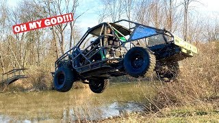 Well, I Almost DIED... JUMPING MY EXO CAGE CHEVY BLAZER INTO A ICY LAKE!!! Testing My New Build!