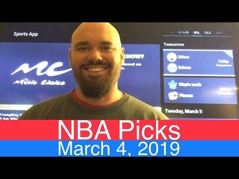 NBA Picks (3-4-19)   Basketball Sports Betting Expert Predictions Video   Vegas   March 4, 2019