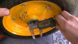 видео Колеса пневматические для тачек и тележек