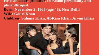 Iteresting facts about Shahrukh Khan