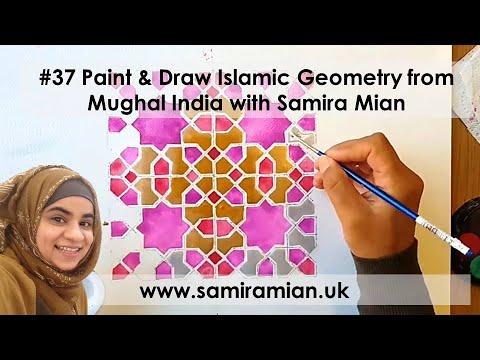#37 Paint & Draw Islamic Geometry from Mughal India with Samira Mian